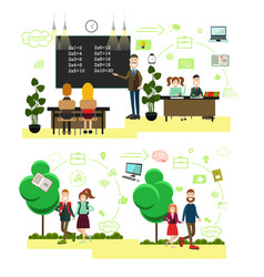 school people concept in flat vector image
