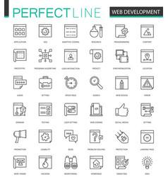 web development thin line web icons set seo vector image