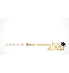 2020 congratulation graduate golden design vector image