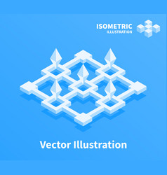Abstract geometric composition 3d pixel art vector
