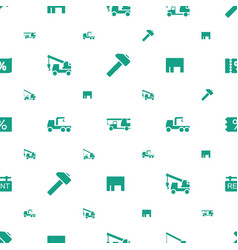 Advertising icons pattern seamless white vector