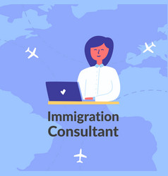 Advertising poster words immigration consultant vector