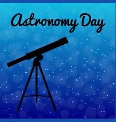 astronomy day night sky with stars silhouette of vector image
