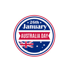 australia day round badge greeting card vector image