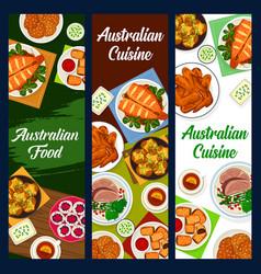 Australian cuisine australia food banners vector