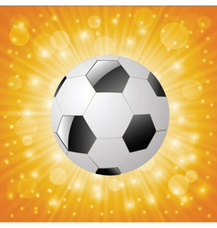 Ball on a sun background vector