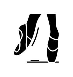 ballet black icon concept vector image