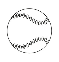 Baseball ball sport game thin line vector