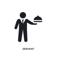 Black servant isolated icon simple element from vector