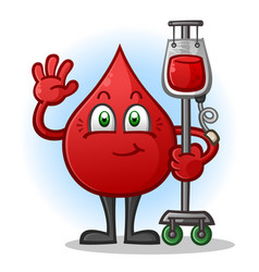 Blood transfusion cartoon character vector