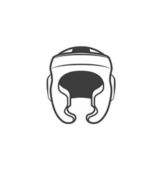 boxing helmet icon vector image