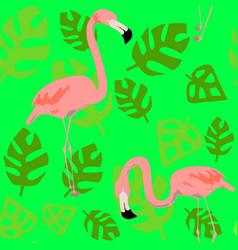 Bright flamingo pattern seamless pattern vector