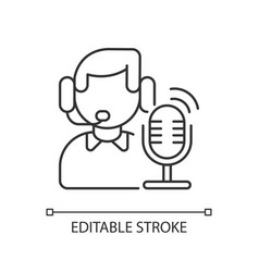 broadcast linear icon vector image