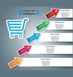 busines infographic cart icon vector image