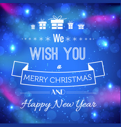 celebrating festive light template vector image