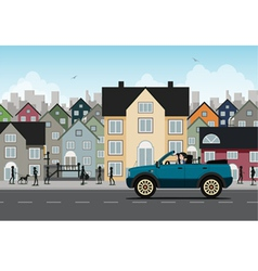 City driving vector image