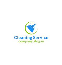 Cleaning broom logo vector
