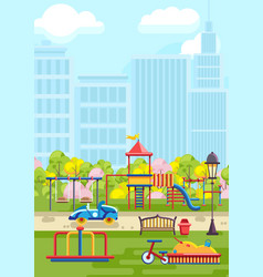 Colorful playground in city vector