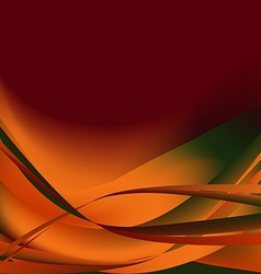Colorful waves isolated abstract background autumn vector image