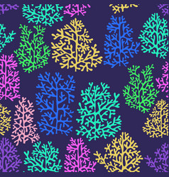 Corals colorful seamless pattern vector