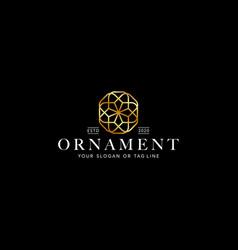 creative concept design logo elegant luxury vector image