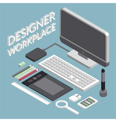Designer workplace vector image