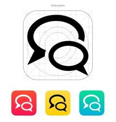 Dialogue bubble icon vector image