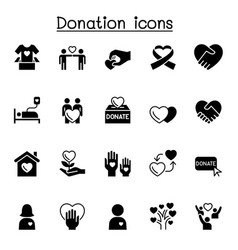 Donation icons set graphic design vector