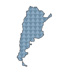dotted line map of argentina vector image