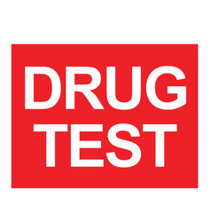 Drug test stamp typ vector