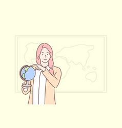 education teaching geography globe concept vector image