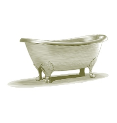 Engraved Bath Tub vector