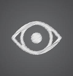 eye sketch logo doodle icon vector image