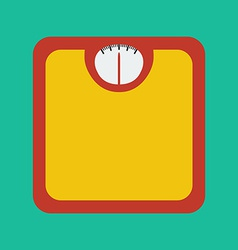 Flat Icon of Bathroom Scale vector image
