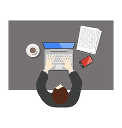 Flat style office worker business management on vector image
