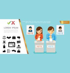 Flat voting process concept vector