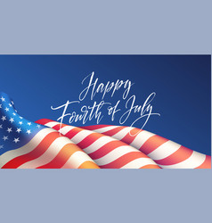 fourth july independence day poster or card vector image