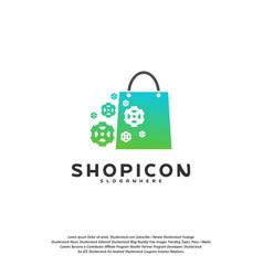 gear shop logo template design vector image