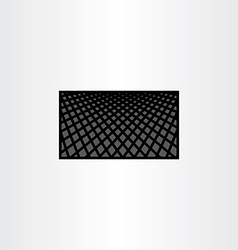 halftone background black business card template vector image