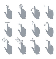 Hand Touch Gesture vector image