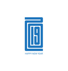 happy new year 2019 minimalist calendar or vector image