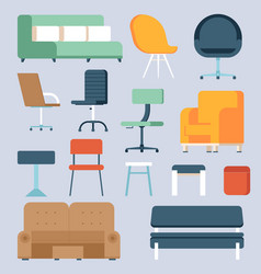 home and office chairs and couches vector image