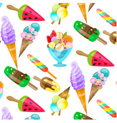 Ice cream cone seamless pattern background vector
