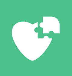 Icon puzzle heart vector