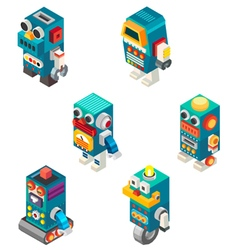 Isometric robots toy vector