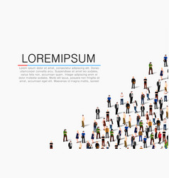 large group of people on white background vector image