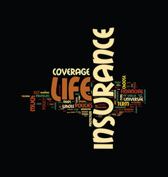 Life insurance is for your life text background vector