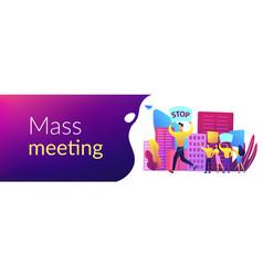 mass meeting concept banner header vector image