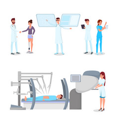 medical innovations flat set vector image