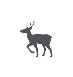 monochrome emblem of deer isolated vector image